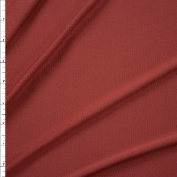 Rust Moisture Wicking Athletic Knit Fabric By The Yard