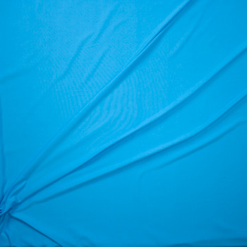Candy Blue Moisture Wicking Athletic Knit Fabric By The Yard - Wide shot