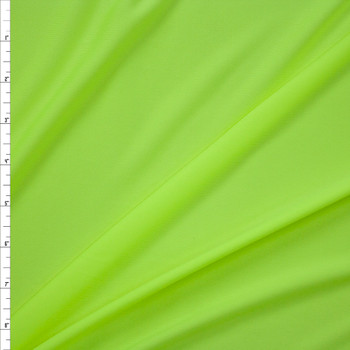 Neon Yellow Moisture Wicking Athletic Knit Fabric By The Yard
