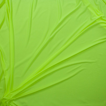 Neon Yellow Moisture Wicking Athletic Knit Fabric By The Yard - Wide shot