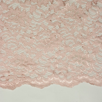 Blush Designer Double-Scalloped Lace