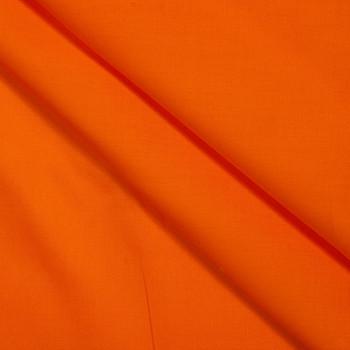 Orange Stretch Cotton Broadcloth