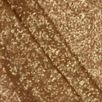 Matte Gold Micro Sequin Fabric