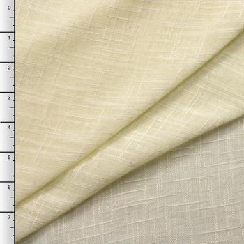 """90"""" Wide Ivory Sheer Linen Look"""