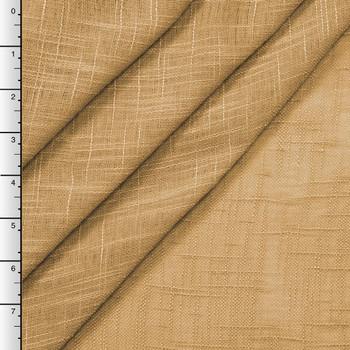 """90"""" Wide Gold Sheer Linen Look"""