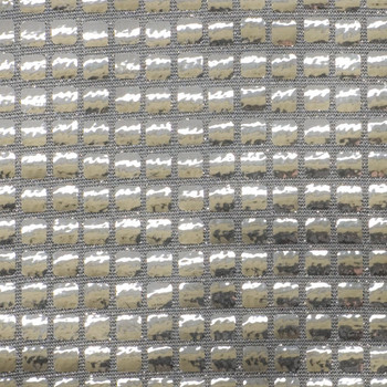 Silver Square Sequin Fabric