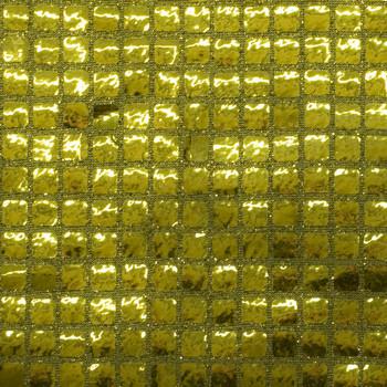 Gold Square Sequin Fabric