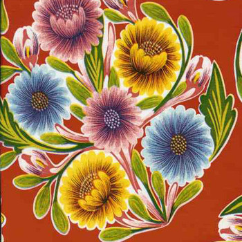 """Bloom"" Red Oilcloth"