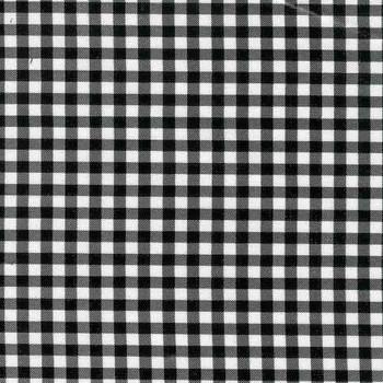 Gingham Plaid Black Oilcloth