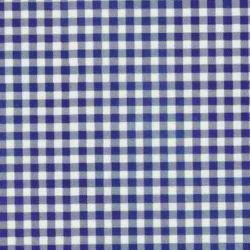 Gingham Plaid Royal Blue Oilcloth