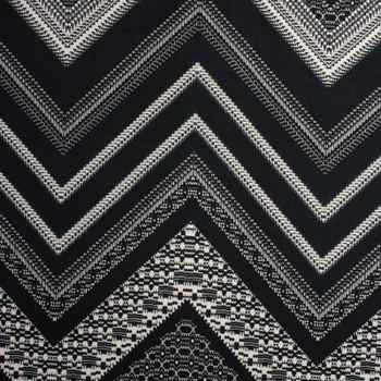 Black and Ivory Chevron Pattern Designer Nylon/Lycra #15283