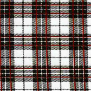 Glen Plaid White Oilcloth