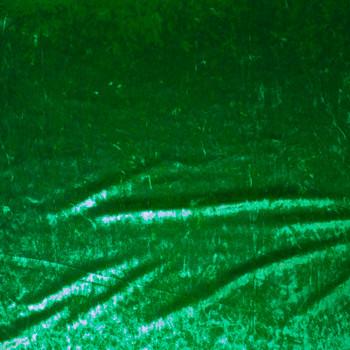 Green Shimmer Crushed Stretch Velvet