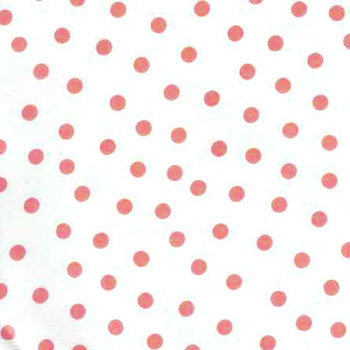 """Polka Dot"" Pink on White Oilcloth"