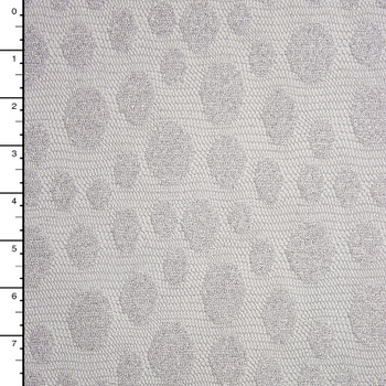 Silver Sparkling Dotted Lace