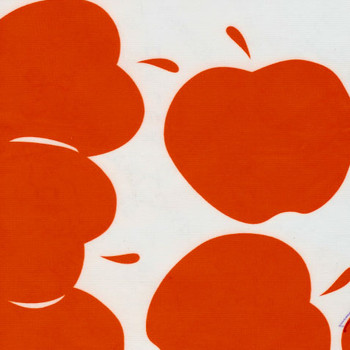 """Solvang"" Red Apples Oilcloth"