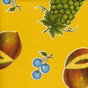 """Tuscan"" Fruit on Yellow Oilcloth"