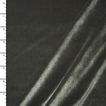 Medium Grey 4-way Stretch Velvet By The Yard