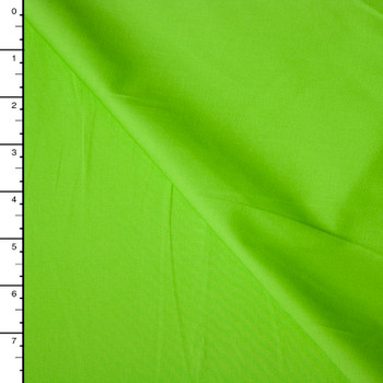 Bright Lime Green Midweight Stretch Cotton Broadcloth