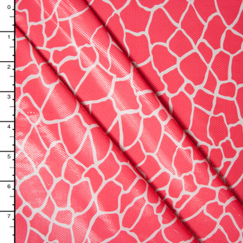 Hot Pink Giraffe Gloss Nylon/Lycra