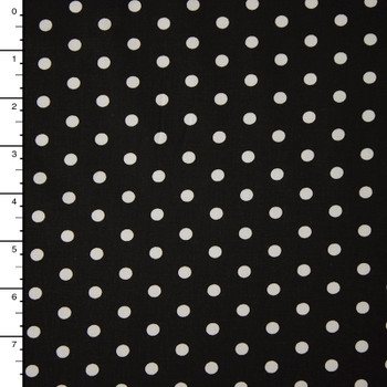 "White on Red Polka Dot 60"" Cotton Broadcloth"
