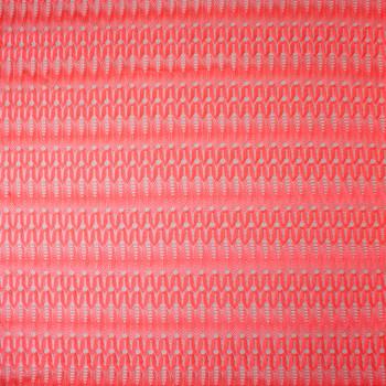 Neon Orange Slinky Art Deco Gemetric Lace