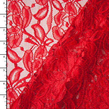 Red Rose Floral Lace