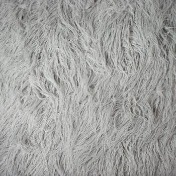 Light Gray Curly Yak Luxury Faux Fur