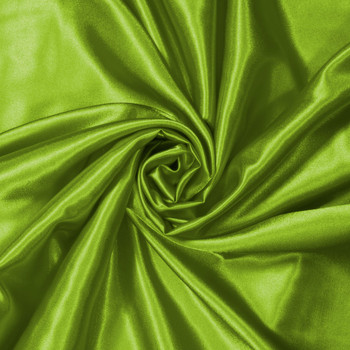 Lime Green Charmeuse Satin