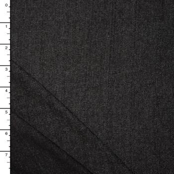 Black Denim-Look Lightweight Stretch French Terry