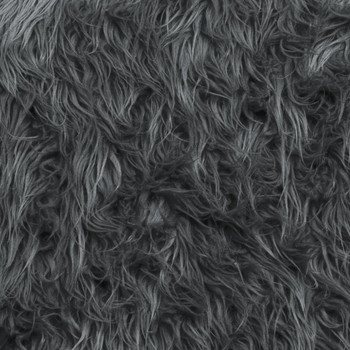 Grey Mongolian Faux Fur