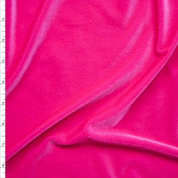 Neon Pink 4-way Stretch Velvet By The Yard