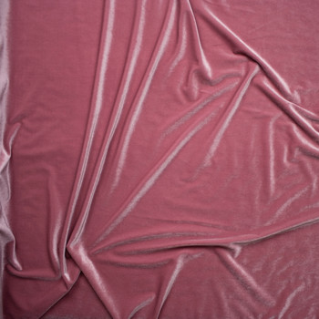 Vintage Rose 4-way Stretch Velvet By The Yard