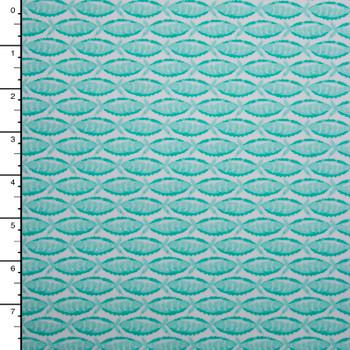 Baby Mint Fish Print on White Nylon/Lycra