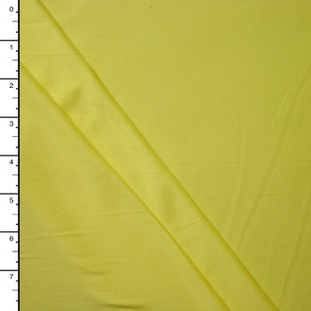 Light Yellow Double Brushed Poly Spandex Knit