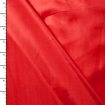 Red Poly Habotai Lining