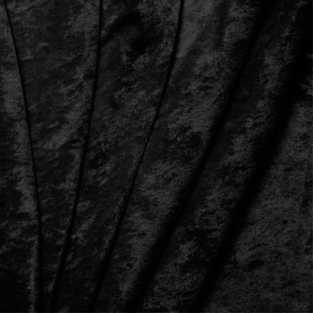 Black Crushed Panne Velour