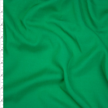 Kelly Green Rayon Challis Fabric By The Yard