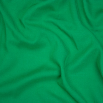 Kelly Green Rayon Challis Fabric By The Yard - Wide shot