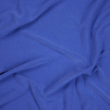 Bright Blue Brushed Modal Knit Fabric By The Yard - Wide shot