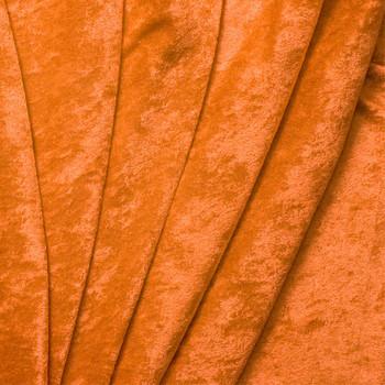 Orange Crushed Panne Velour