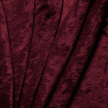 Burgundy Crushed Panne Velour