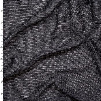 cc590347ffd Black Loose Knit Lightweight Sweater Knit Fabric By The Yard ...