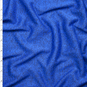 Royal Blue Heather Lightweight Sweater Knit Fabric By The Yard
