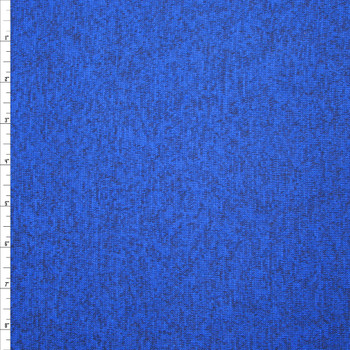 Royal Blue Heather Lightweight Sweater Knit Fabric By The Yard - Wide shot