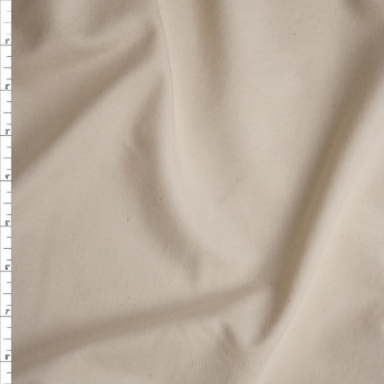 Natural Ivory Lightweight Cotton French Terry Fabric By The Yard