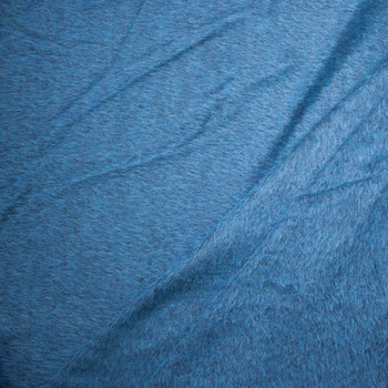 Rich Teal Mohair/Poly Blend Coating Fabric By The Yard - Wide shot
