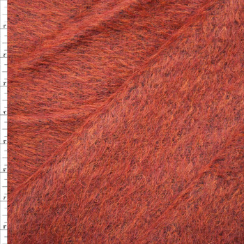 Rich Rust Mohair/Poly Blend Coating Fabric By The Yard
