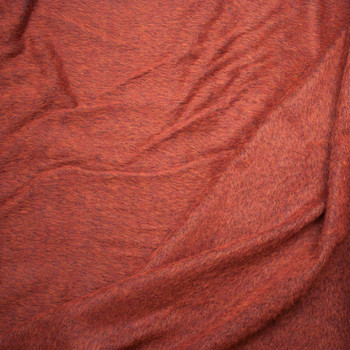 Rich Rust Mohair/Poly Blend Coating Fabric By The Yard - Wide shot