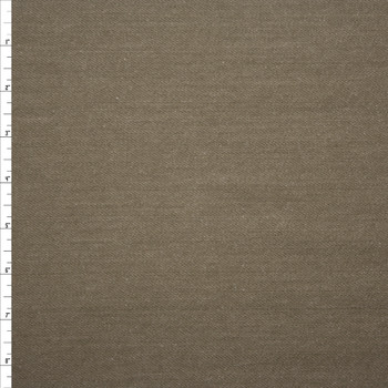 Taupe Heavyweight Textured Washed Denim Fabric By The Yard - Wide shot